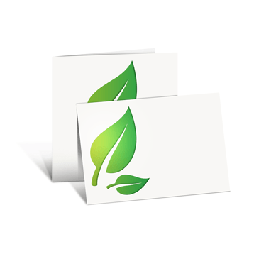 Eco/natural paper folded cards