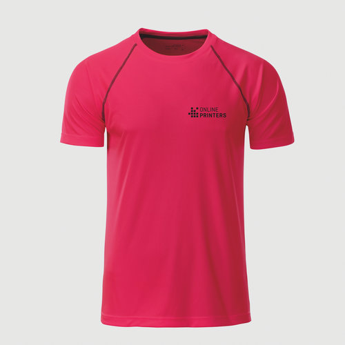 neon pink / grey