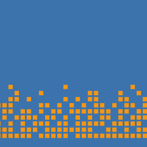 orange on blue pixels